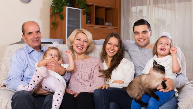 family with grand children